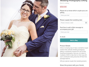 Our new Wedding Photography Gifting Service is now available online.