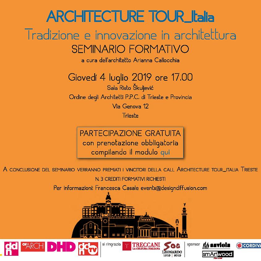 ARCHITECTURE TOUR Italia