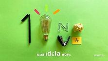 Fundo verde com o número um, uma lâmpada