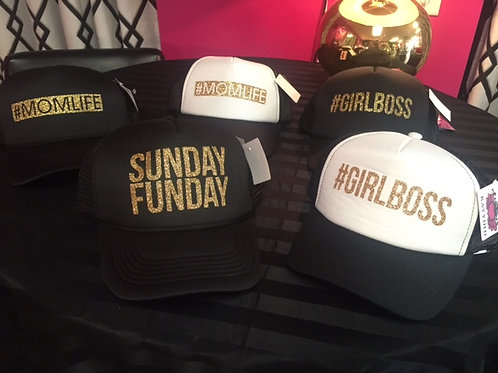 Girl Boss hashtag hats