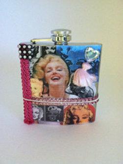 Marilyn Monroe Handmade Flask