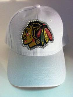 Blinged Out Blackhawks Hat