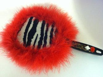 Chix™ Hand Held Zebra Mirror