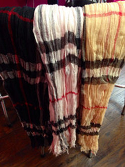 Fall Plaid Scarves