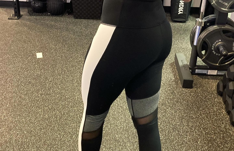 Highwaist Incline Colorblock Mesh Leggings (black/white/gray)