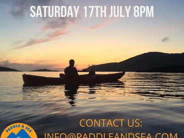 ☀️ Sunset paddle this Saturday at 8pm!