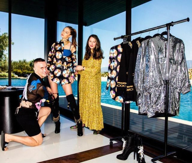 Gigi styled in the new collaboration