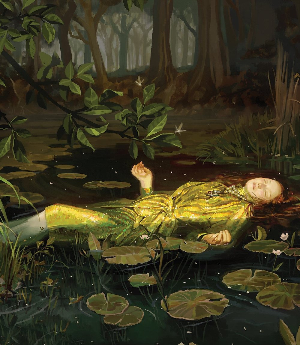 INSPIRED BY OPHELIA (1852) BY JOHN EVERETT MILLAIS, TATE GALLERY, LONDON.