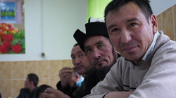 Pamir men in Naryn