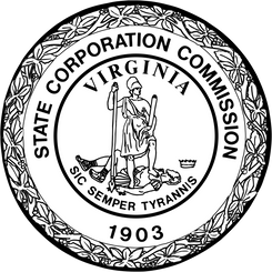 Seal of the State Corporation Commission for Virginia.