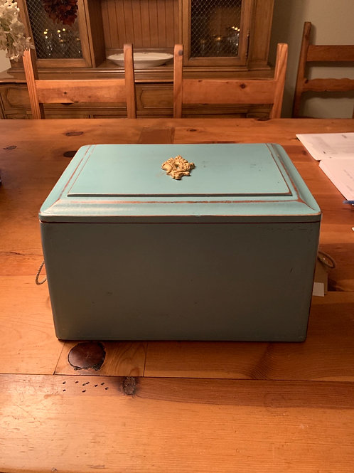 Turquoise Step Stool / Cedar Chest