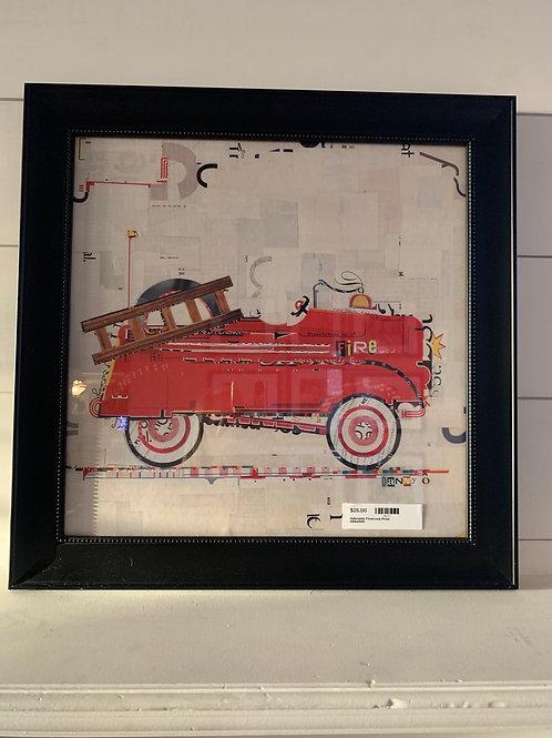 Adorable Firetruck Print