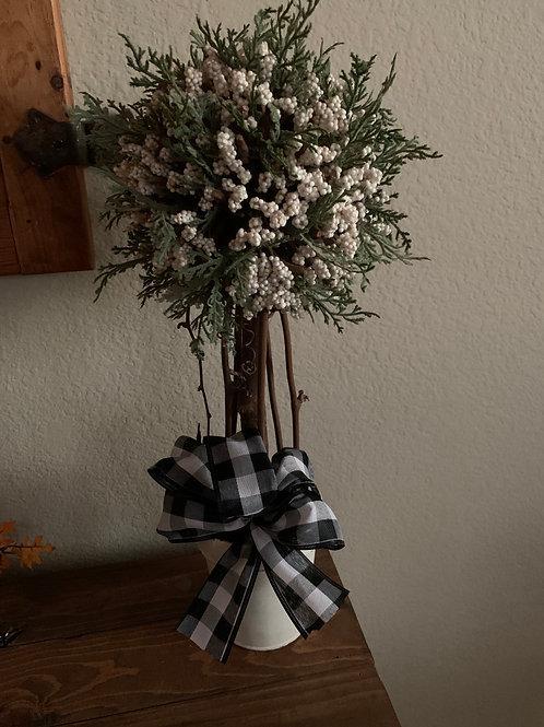 Beautiful Little Tree W/ White Blossoms