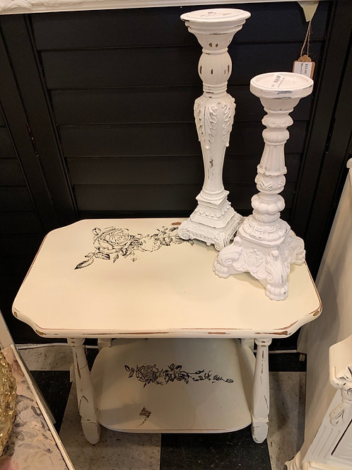 """Beautiful Rose Side Table 2' X 14"""" X 23"""""""