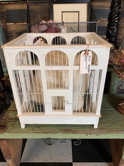 Adorable White Chippy Birdhouse