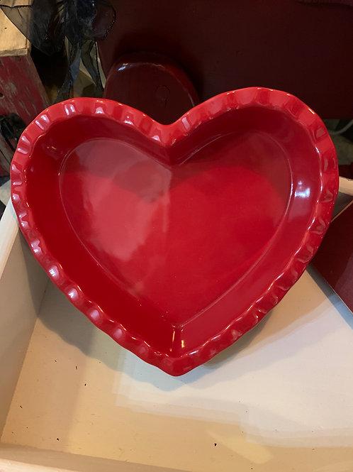 Heart Shape Pie Dish