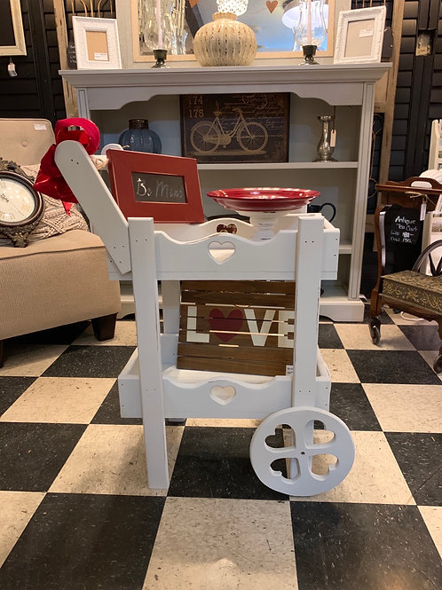 Sale Adorable Heart Tea Cart