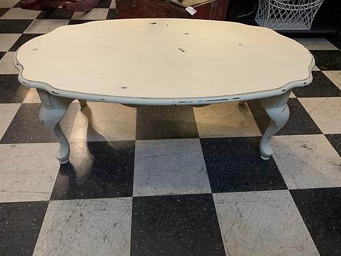 "Shabby Chic Cream Coffee Table 44 1/2"" Wide X 27"" Deep X 16"" High"
