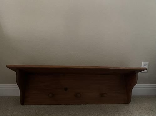 "Rustic Shelf Coat Rack 42"" Wide X 11"" Deep X 12"" High"