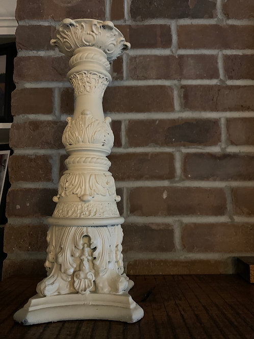Cream Tall Shabby Chic Candle Stand