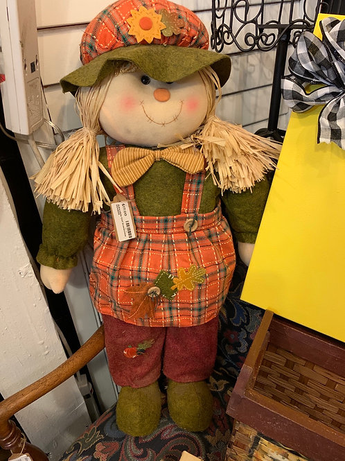 Adorable Girl Scarecrow