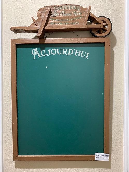 Wheelbarrow Chalkboard