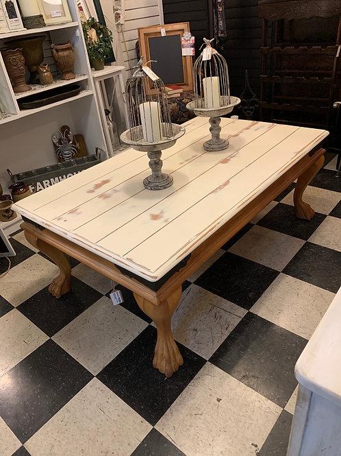"Sale Sale Farmhouse Chic Coffee Table 53 1/2"" Wide X 32 1/2"" Deep X 20"" High"
