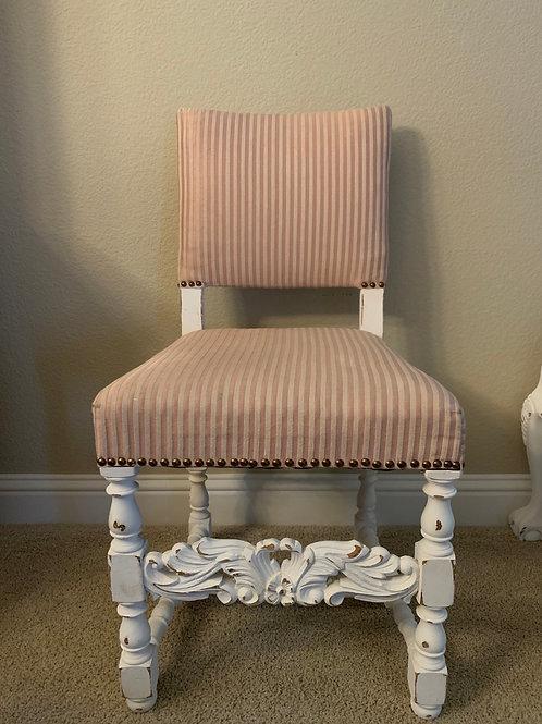 Pretty Pale Pink Ornate Chair
