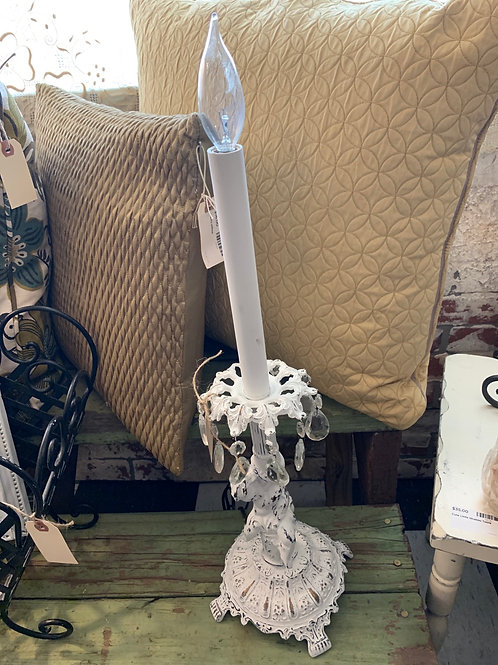 Vintage angel light with crystals