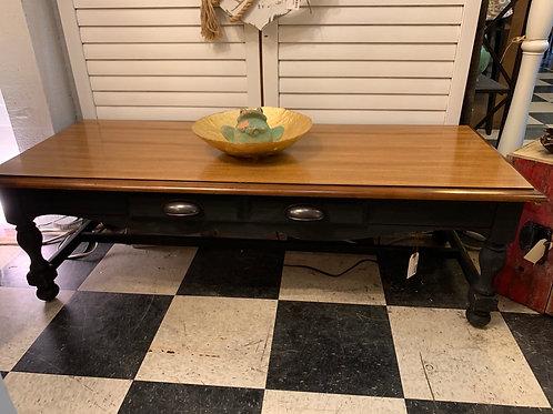 Coffee Table Black Distressed