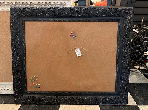 "Distressed Black Cork Board 35"" Wide X 29"" High"