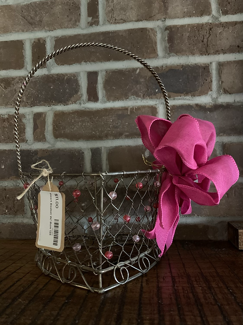 Heart Basket With Bow