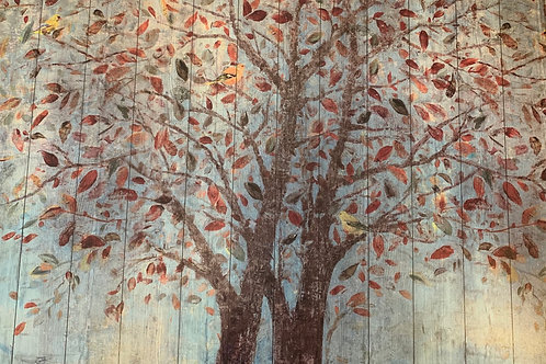 "Beautiful Tree Painting 4' Wide X 28"" High"