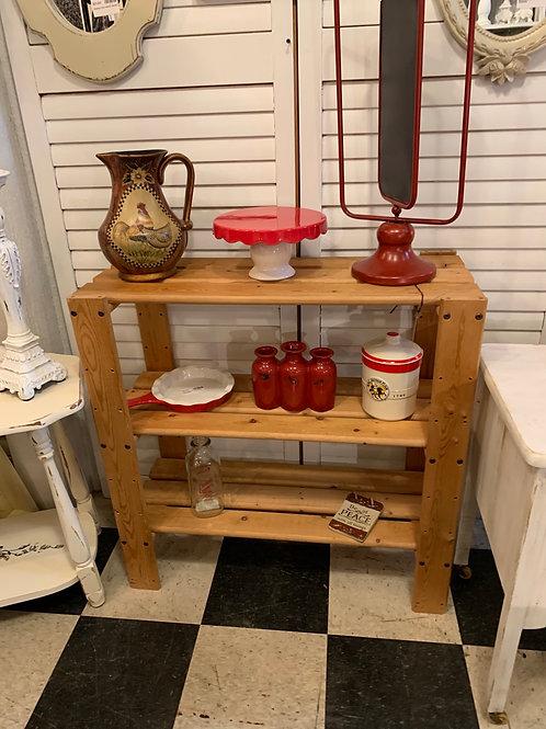 Wood Three Tier Shelf