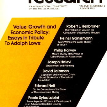 VALUE, GROWTH, AND ECONOMIC POLICY: Essays In Tribute To Adolph Lowe / Vol. 50, No. 2 (Summer 1983)