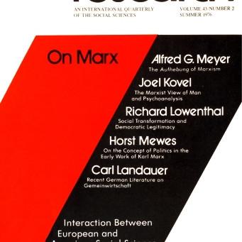 ON MARX / Vol. 43, No. 2 (Summer 1976)