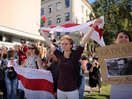 Thousands of Protesters March in Belarus, More than Three Hundred Detained