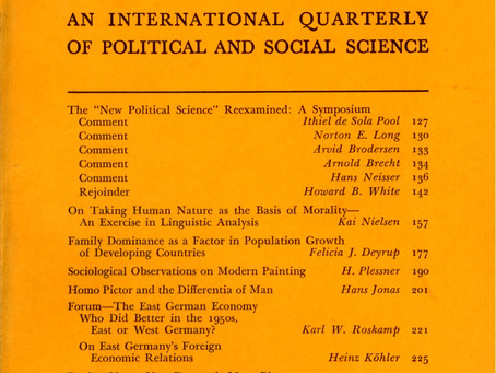 THE NEW POLITICAL SCIENCE RE-EXAMINED: A Symposium / Vol. 29, No. 2 (Summer 1962)