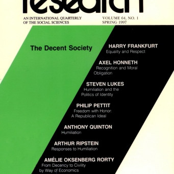 THE DECENT SOCIETY / Vol. 64, No. 1 (Spring 1997)