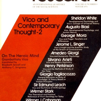 VICO AND CONTEMPORARY THOUGHT - 2 / Vol. 43, No. 4 (Winter 1976)
