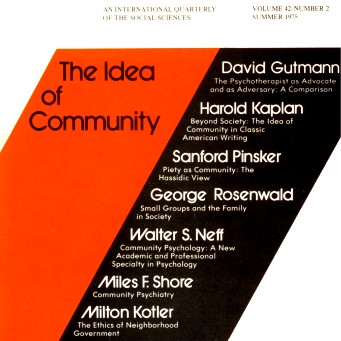 THE IDEA OF COMMUNITY / Vol. 42, No. 2 (Summer 1975)