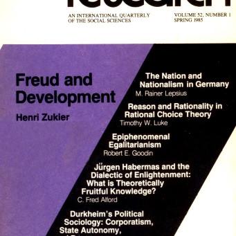 FREUD AND DEVELOPMENT / Vol. 52, No. 1 (Spring 1985)