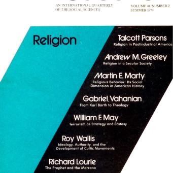 RELIGION / Vol. 41, No. 2 (Summer 1974)