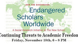 Continuing Threats to Academic Freedom: Endangered Scholars Worldwide