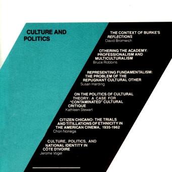 CULTURE AND POLITICS / Vol. 58, No. 2 (Summer 1991)
