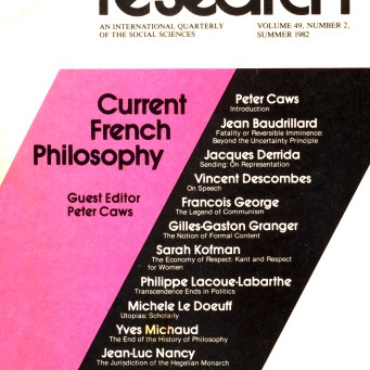 CURRENT FRENCH PHILOSOPHY / Vol. 49, No. 2 (Summer 1982)