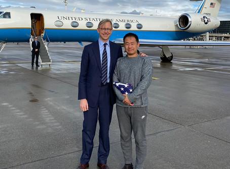 Xiyue Wang Released from Iranian Jail in Prisoner Swap