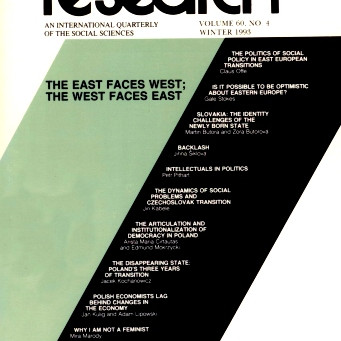 THE EAST FACES WEST; THE WEST FACES EAST / Vol. 60, No. 4 (Winter 1993)