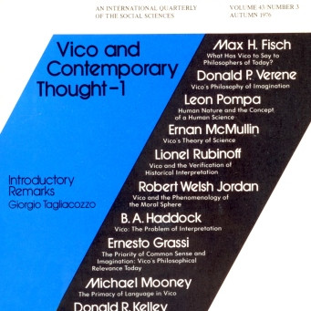 VICO AND CONTEMPORARY THOUGHT - 1 / Vol. 43, No. 3 (Fall 1976)