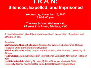 Iran: Silenced, Expelled, and Imprisoned